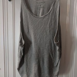 Free people green stripped tank size small